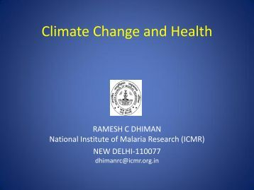 global climate change and public health pdf