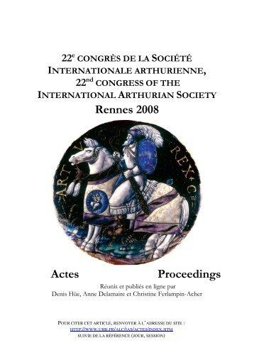 Lisane dans le livre VI de Perceforest - Université Rennes 2
