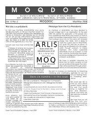 Vol. 13, no. 2 - arlis/na moq