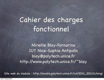 Cahier des charges Fonctionnel - Université Nice Sophia Antipolis