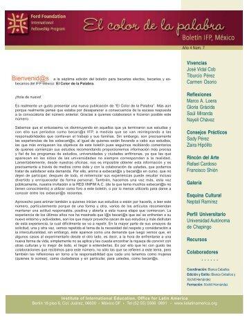No. 7 - Programa Internacional de Becas de Posgrado - Ciesas