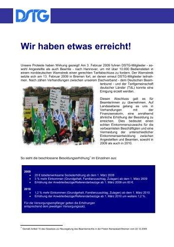 Wir haben etwas erreicht! - Deutsche Steuer-Gewerkschaft