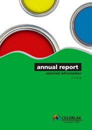 Annual report 2006 - Colorlak