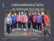 Weihnachtslauf 2011 - Kraichgau-Lauf