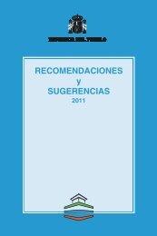 Recomendaciones y sugerencias 2011 - Defensor del Pueblo