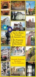 Tag des offenen Denkmals 11. September 2011 Das Programm in ...