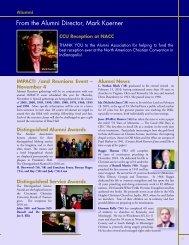 From the Alumni Director, Mark Koerner - Cincinnati Christian ...