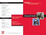 Research Guide - the College of Education and Human Sciences ...