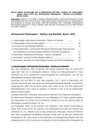 Inhaltsangabe - Gesellschaft für afrikanische Philosophie