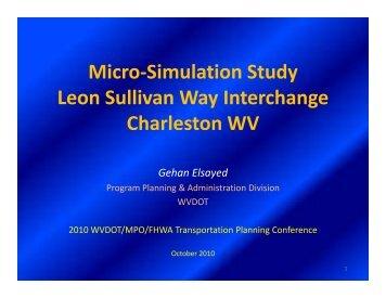 Micro-Simulation Study L S lli W I t h Leon Sullivan Way Interchange ...
