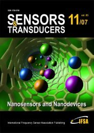 Electrical Characterization of a Nanoporous Silicon Sensor for Low ...