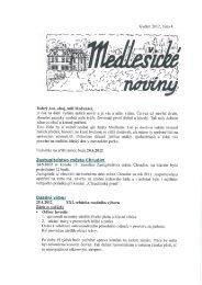 Medlešické noviny květen 2012 číslo 4. - M klub Medlešice