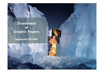 Graphic Papers divestment presentation - Metsä Board