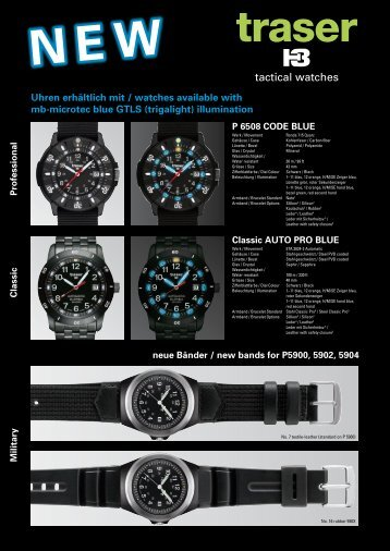 tactical watches - Traser