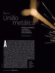 União metálica - Revista Pesquisa FAPESP