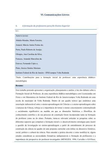 Resumos Tema 6 - Faculdade de Psicologia e de Ciências da ...