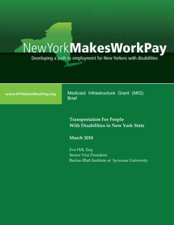 Transportation For People with Disabilities in NYS - Home - Cornell ...