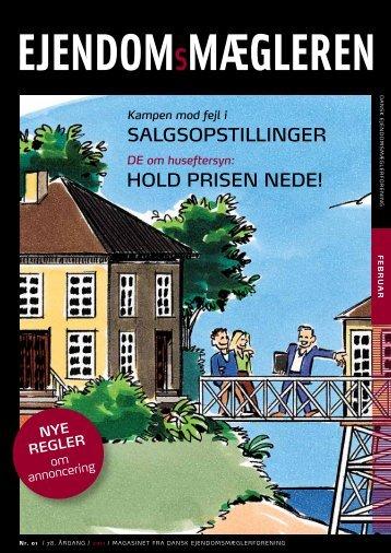 Hold prisen nede! salgsopstillinger - Dansk Ejendomsmæglerforening