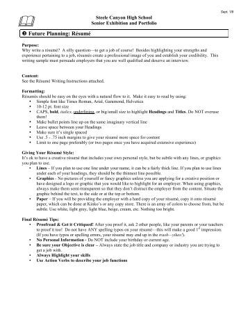 resume rubric high school