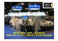 MACH-TECH 2009 – Budapest - galika