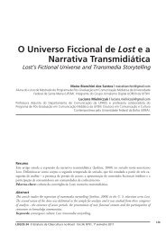 O Universo Ficcional de Lost e a Narrativa Transmidiática - Logos