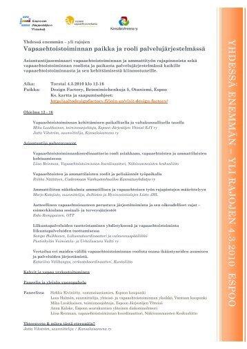 ohjelma pdf-tiedostona - Kansalaisareena