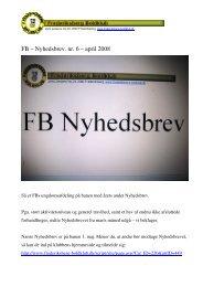 FB – Nyhedsbrev. nr. 6 – april 2008 - Frederiksberg Boldklub