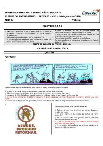 Prova - 2ª série - Escola Interativa
