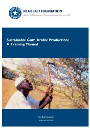 Sustainable Gum Arabic Production - Near East Foundation