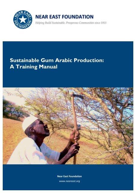 Sustainable Gum Arabic Production - Near East Foundation