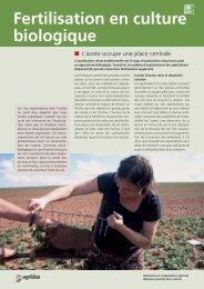 Fertilisation en culture biologique - bioactualites.ch