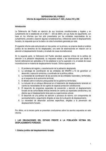 DEFENSORIA DEL PUEBLO - Defensoría del Pueblo