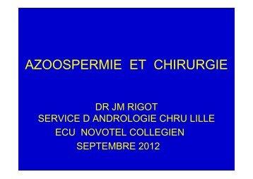 AZOOSPERMIE ET CHIRURGIE VASECTOMIE ECU 2012 - Toulandro