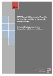 DRAFT Sustainability Appraisal Report for the Emerging Local Plan ...