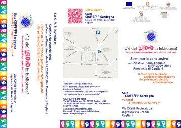 La brochure [file .pdf] - Sardegna Biblioteche