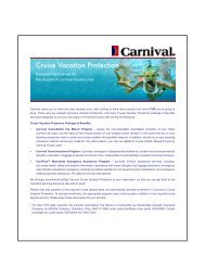 Carnival Cruise Vacation Protection - GoCCL.com