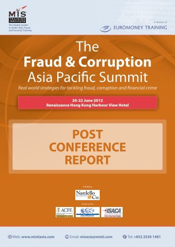 The Fraud & Corruption Asia Pacific Summit - MIS Training - Asia