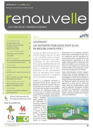 Renouvelle n° 43 - APERe