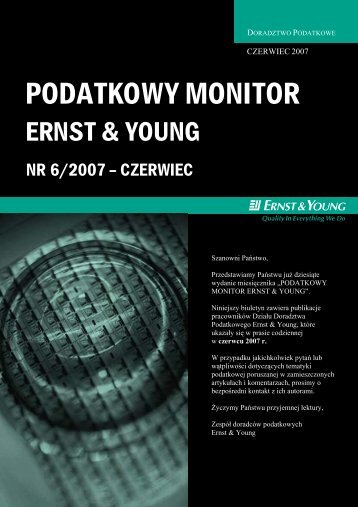 PODATKOWY MONITOR - Ernst & Young