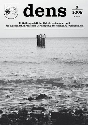 Mitteilungsblatt der Zahnärztekammer und der ... - Dens