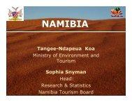 Namibia - Statistics and Tourism Satellite Account