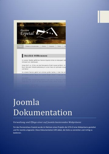 Joomla Dokumentation