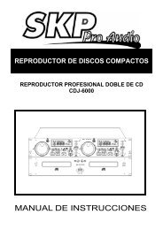 MANUAL DE INSTRUCCIONES - SKP Pro Audio