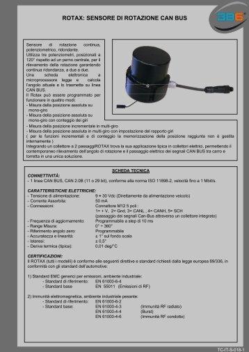 ROTAX: SENSORE DI ROTAZIONE CAN BUS - 3b6.it
