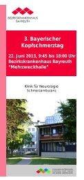 Broschüre 3. Bayerischer Kopfschmerztag.pdf - GCE Bayreuth