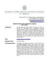 Maho Fact Sheet AUG2010 - Sonesta.com