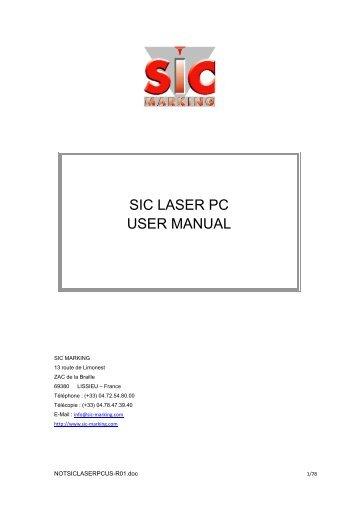 SIC LASER PC USER MANUAL - SIC-Venim s.r.o.