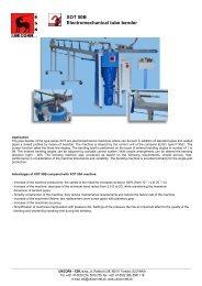 XOT 50B Electromechanical tube bender - UNICORN-ESK, sro
