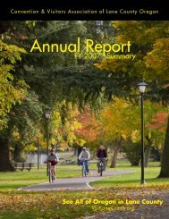 CVALCO Annual Report Summary - Travel Lane County