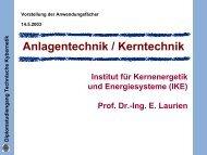 Anlagentechnik / Kerntechnik - Technische Kybernetik